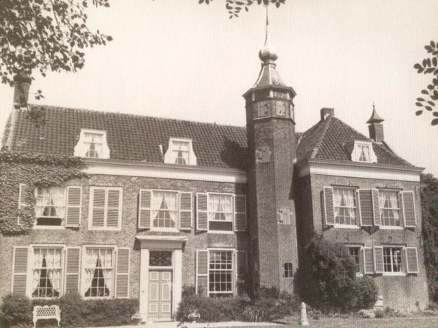 Oude foto van Landhuis De Oliphant in Rotterdam.